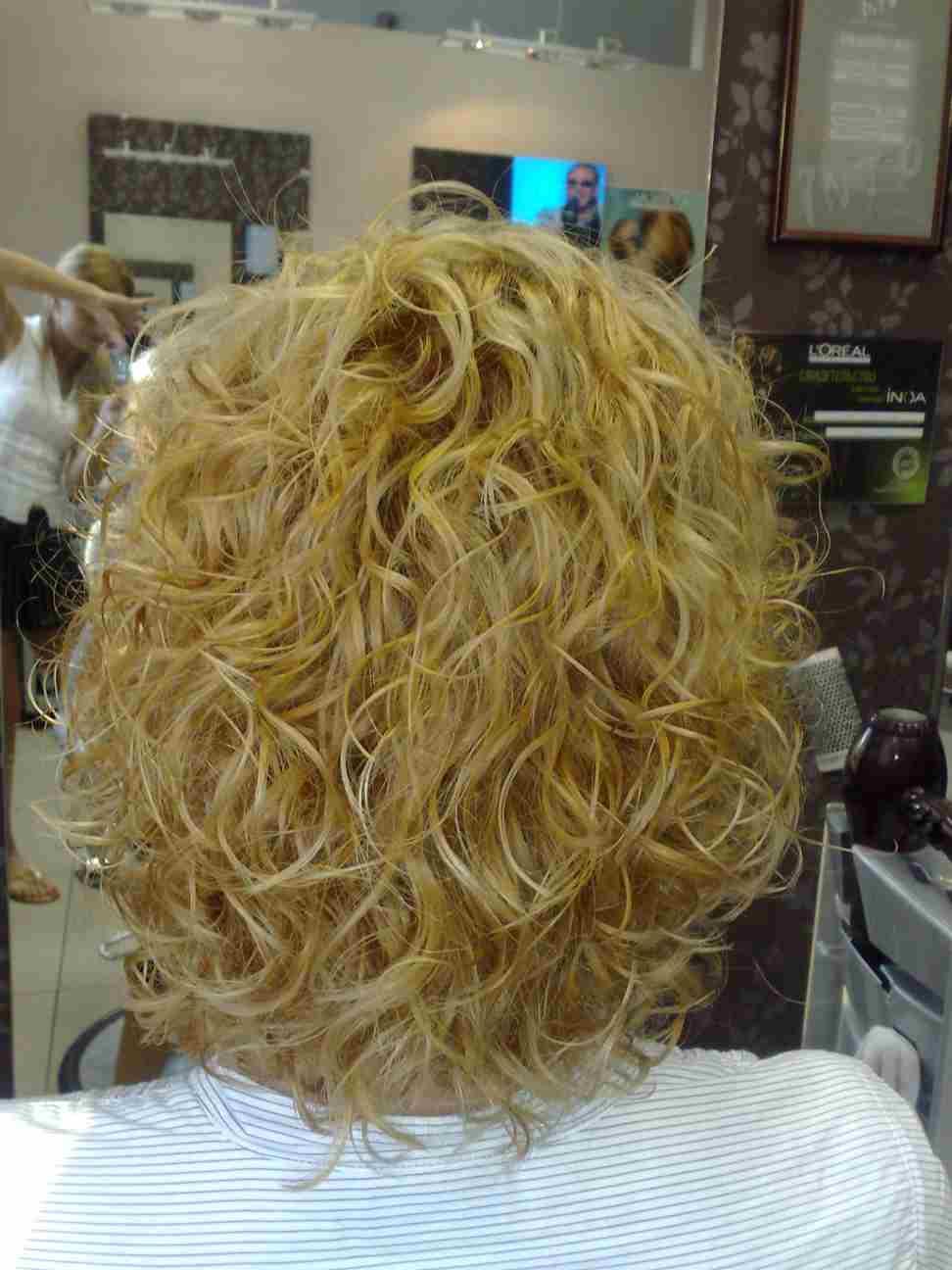 Химическая завивка волос на короткие волосы фото в домашних условиях