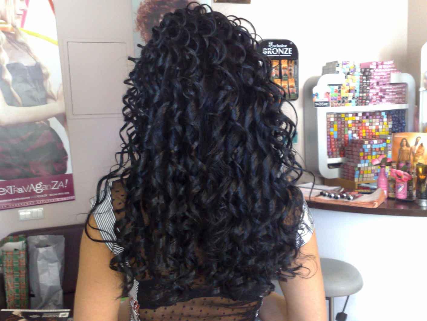 Химия волос на длинные волосы крупные локоны фото